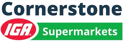 A theme logo of Cornerstone IGA